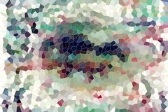 Abstract background with shapes. Abstract shapes background in brown, gray, green hues and colors. Textile pattern and texture.Wax and paint with mud stock illustration