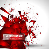 Abstract Background with Shapes Explosion For Cover Royalty Free Stock Images