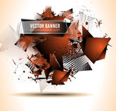 Abstract Background with Shapes Explosion For Cover, Flyers Stock Photography