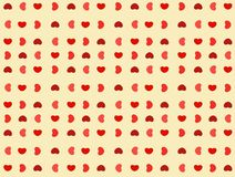 Abstract background with shapes of heart Royalty Free Stock Photos