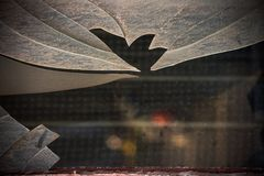 Abstract background with sharp shards of window glass. Is close stock image
