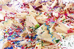 Shavings of colored pencils Stock Image