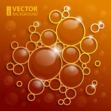 Abstract background with shining circles Royalty Free Stock Photos