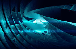 Abstract background with shining dark blue 3d spiral Stock Photos