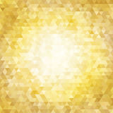 Abstract background with shining gold triangles Royalty Free Stock Photos