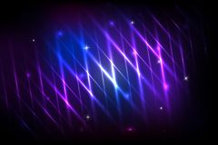 Vector colorful abstract background with shiny strips. Abstract background with shining magic lights and Glowing futuristic lines in the dark space. Vector Royalty Free Stock Photography