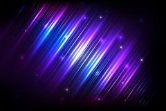 Vector colorful abstract background with shiny strips. Abstract background with shining magic lights and Glowing futuristic lines in the dark space. Vector Royalty Free Stock Photo