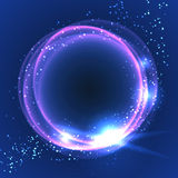 Abstract background with shining round frame. Royalty Free Stock Image