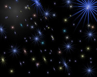 Abstract background. Shining starry sky royalty free illustration