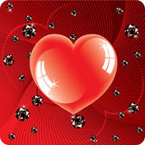 Abstract background of shiny beads and heart Royalty Free Stock Photo