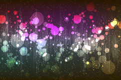 Abstract background with shiny circles Stock Photo