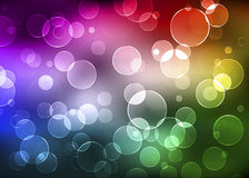 Abstract background with shiny circles. Color Stock Image