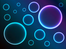 Abstract background with shiny circles. Vector illustration vector illustration