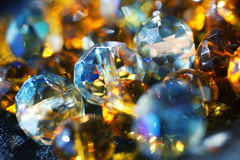 Abstract background with shiny glass beads Royalty Free Stock Photography