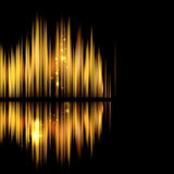 Abstract background-shiny sound waveform. Royalty Free Stock Image