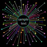 Abstract background with shiny star and place for text Stock Photo