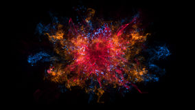 Abstract background with Shockwave explosion on black backdrop Stock Images