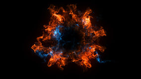 Abstract background with Shockwave explosion on black backdrop. Technology. 3d render Royalty Free Stock Images