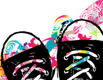 Abstract background with shoes Stock Photography
