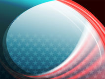 Abstract background with a silhouette of the American flag Stock Photography