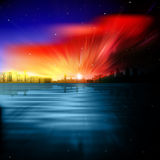 Abstract background with silhouette of London Stock Images