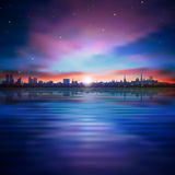 Abstract background with silhouette of Tallinn Royalty Free Stock Images