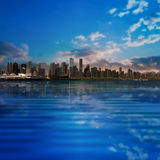 Abstract background with silhouette of Vancouver Stock Images