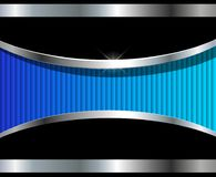 Abstract background silver blue. 3D vector design stock illustration