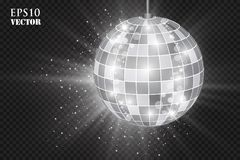 Abstract background silver disco ball. vector illustration