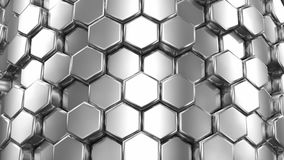 Abstract Background of Silver Honeycombs stock video footage