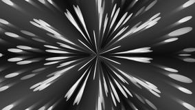 Abstract background with silver kaleidoscope. 3d rendering Stock Images