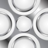 Abstract background with silver metal circles Stock Images
