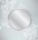 Abstract background with silver and realistic spheres Stock Photos