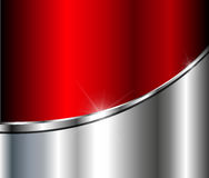 Abstract  background silver red. With metallic elements, 3D vector illustration Stock Photo