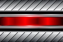 Abstract  background silver red. Shiny metallic vector illustration Royalty Free Stock Photo