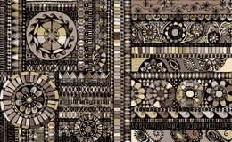 Abstract background similar to an ethnic carpet Royalty Free Stock Photo