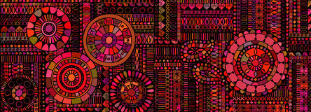 Abstract background similar to an ethnic carpet Stock Photos
