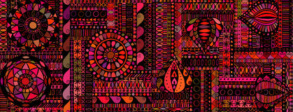 Abstract background similar to an ethnic carpet Royalty Free Stock Photography