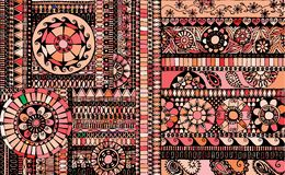 Abstract background similar to an ethnic carpet Royalty Free Stock Images