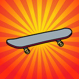 Abstract background with skateboard Stock Photography