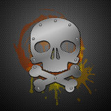 Abstract background with skull. Royalty Free Stock Image