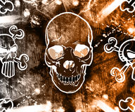 abstract background skull 库存图片