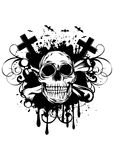 Abstract background skull and crossed bones Stock Photography