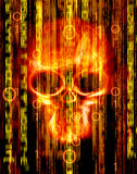 abstract background with skull Stock Image