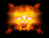 Abstract background with skull. Digital illustration royalty free illustration
