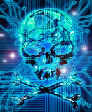 Abstract background with skull Stock Photo