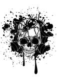 Abstract background skull spider and web Stock Images