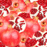 Abstract background with slices of fresh pomegranate Stock Photo