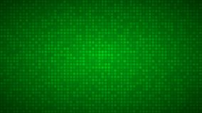 Abstract background of small circles. Or pixels in green colors Stock Images