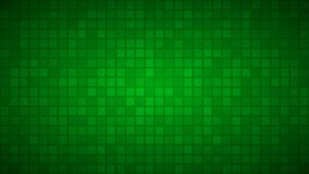 Abstract background of small squares. Or pixels in green colors vector illustration
